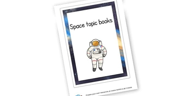 Space Topic Book - Space Literacy Primary Resources, Space, planets, Sun, moon, star