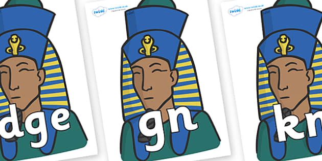 Silent Letters on Pharaohs - Silent Letters, silent letter, letter blend, consonant, consonants, digraph, trigraph, A-Z letters, literacy, alphabet, letters, alternative sounds