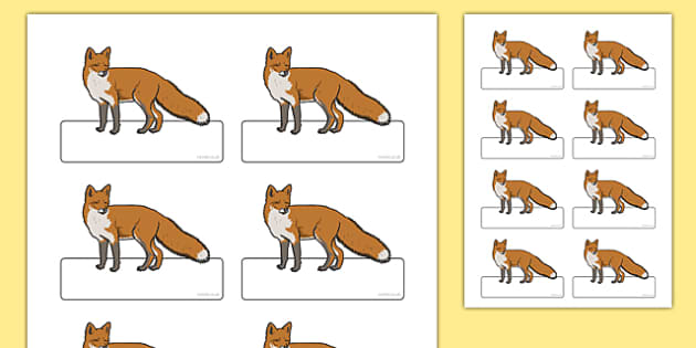 Fox Themed Registration Labels - register, class, morning activity, attendance, display, nature, wildlife, urban, ks1, ks2, eyfs, foxes