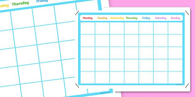 A3 Blank Calendar Display Poster - posters, displays, visual