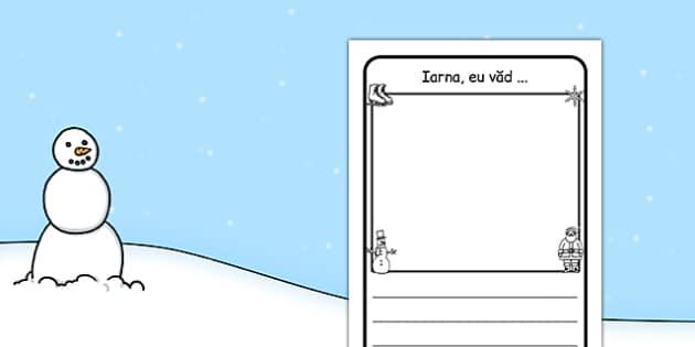 Iarna eu vad, Fisa - scriere, stiinte, mediu, vreme