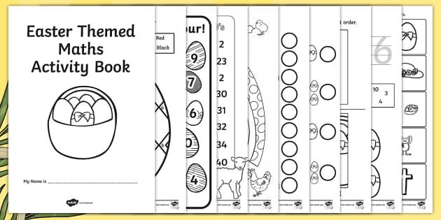 Easter Themed Maths Activity Book - easter, maths, activity, book