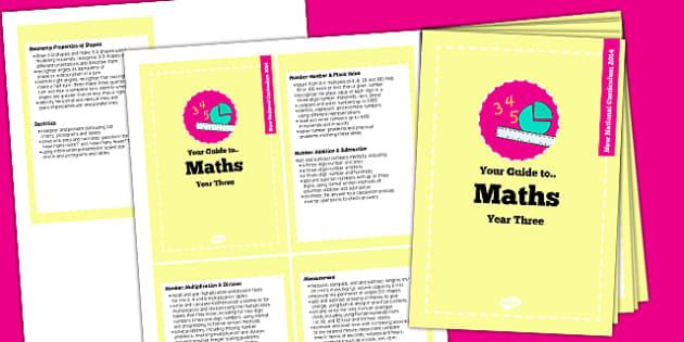 2014 Curriculum Cards Year 3 Maths - new curriculum, planning