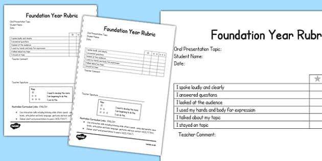 Oral Presentation Rubric Foundation - australia, oral, presentation, rubric, foundation