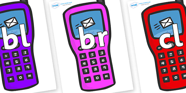 Initial Letter Blends on Mobile Phone - Initial Letters, initial letter, letter blend, letter blends, consonant, consonants, digraph, trigraph, literacy, alphabet, letters, foundation stage literacy