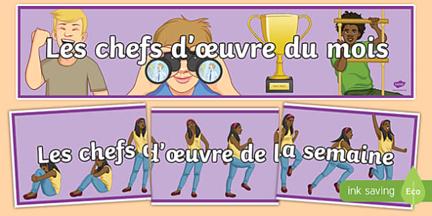 Celebrating Success in French Display Banner