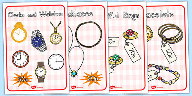 Jewellery Shop Role Play Posters - poster, displays, display