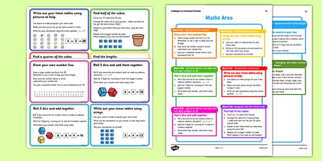 Short Term Continuous Provision Plan Y1 Maths Area Challenges - short term, continuous, provision, play, y1, maths area, challenges