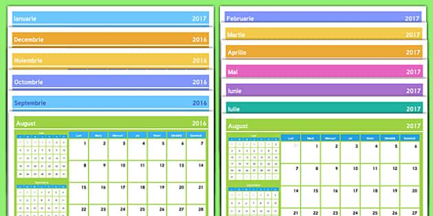 Calendar An școlar 2016-2017 - romanian, inceput de an scolar, vacanta, septembrie, toamna, prima zi de scoala, scoala, activitati, materiale romana, calendar, calendarul profesorului, profesori, învățătoare, planificare