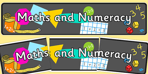 Maths and Numeracy Display Banner - maths, numeracy, display banner