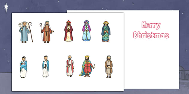 Make your Own Nativity Christmas Cards (Cut Outs) - Christmas, xmas, Happy Christmas, tree, advent, nativity,  tree, cards, card, flashcards, cut outs, cutting, cut, make your own christmas card, santa, father christmas, Jesus, tree, stocking, prese
