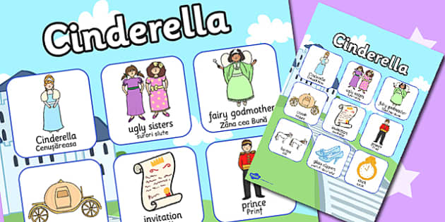 Cinderella Vocabulary Poster Romanian Translation - romanian, eal