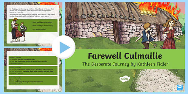 Farewell Culmailie Poetry Writing Activity PowerPoint-Scottish
