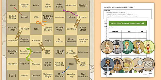 The Sign of Four Snakes and Ladders - The Sign of Four, Literary Heritage Prose, Game, Snakes and Ladders, Revision, GCSE, AQA, Reading