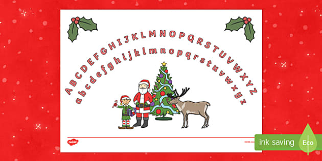 Christmas Themed Upper and Lower Case Alphabet Arc