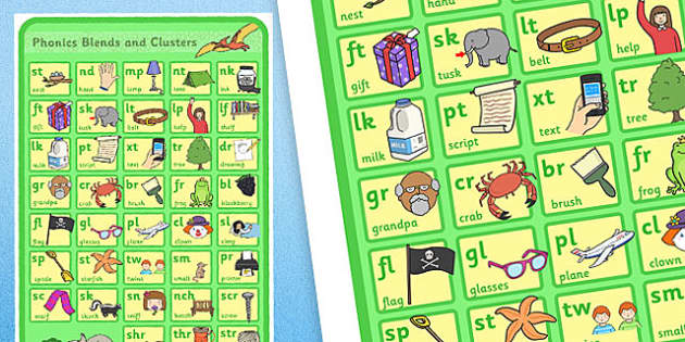 Dinosaur Themed Phase 4 Phonics Large A2 Poster - dinosaur, phase 4, phonics, posters, display