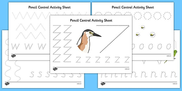 New Zealand Animals Pencil Control Worksheets