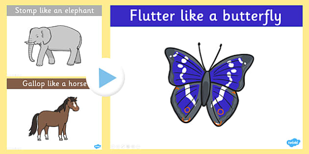 Animal Movements PowerPoint - animal, movements, powerpoint, move