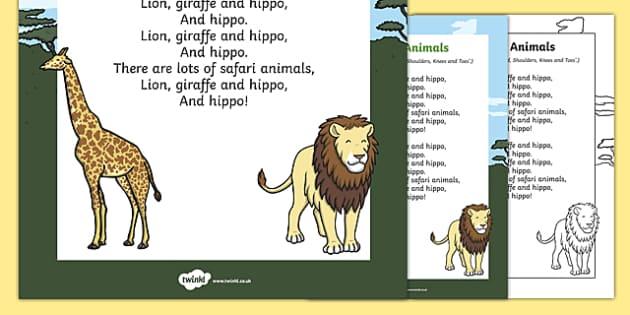 Safari Animals Song