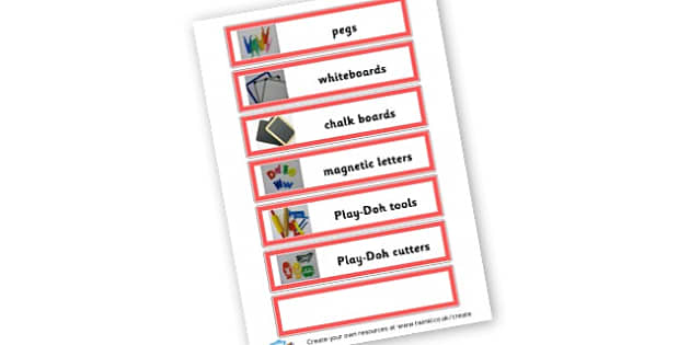 Creative area labels 2a - Classroom Signs & Label Primary Resources, labels, posters, rules
