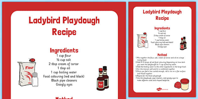 Ladybird Playdough Recipe - red, black, ladybird, pipe cleaner, googly eyes