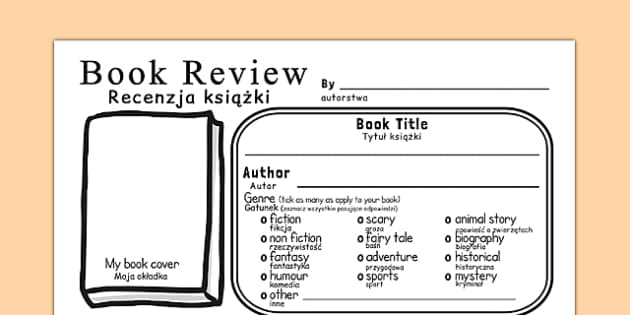 In Depth Book Review Template Polish Translation - polish, reading, book review, books, read