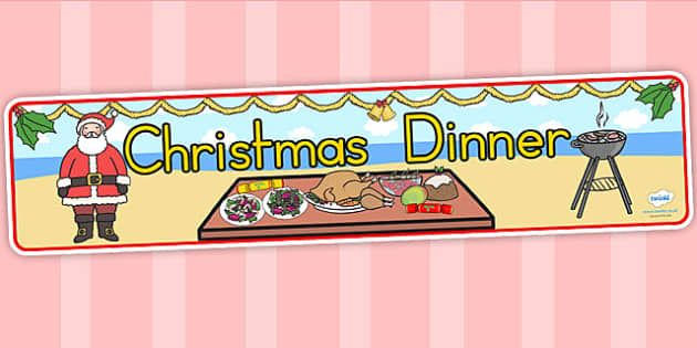 Australia Christmas Dinner Display Banner - christmas, banner, dinner, xmas