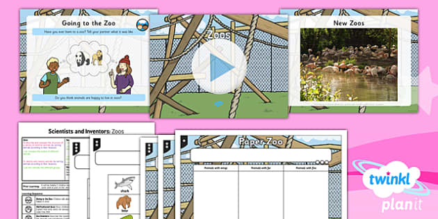 PlanIt - Science Year 1 - Scientists and Inventors Lesson 2: Zoos Lesson Pack - animals, body parts, sorting, grouping