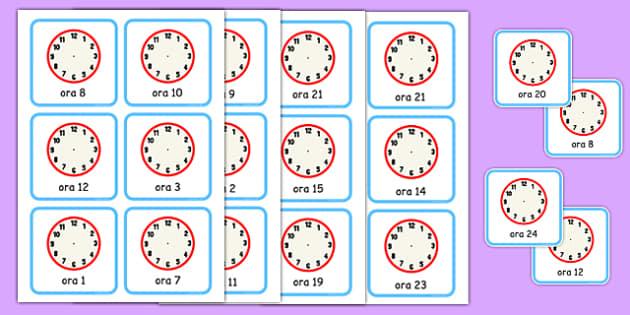 Scrie cat este ceasul, cartonase - ceas, matematica, timp, ceasul