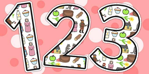 Little Red Riding Hood Display Numbers - display numbers, display