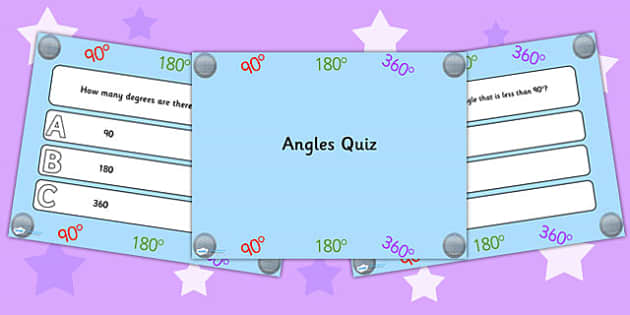Angles PowerPoint Quiz - angles, powerpoint, quiz, math, numeracy
