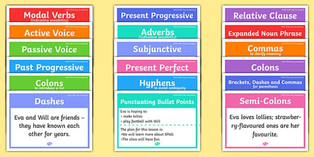 UKS2 SPaG Word Mats - uks2, spag, word mats, word, mats, spelling, grammar, punctuation