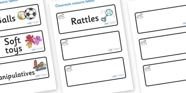 Swan Themed Editable Additional Resource Labels - Themed Label template, Resource Label, Name Labels, Editable Labels, Drawer Labels, KS1 Labels, Foundation Labels, Foundation Stage Labels, Teaching Labels, Resource Labels, Tray Labels, Printable lab