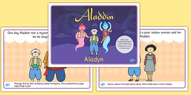 Aladdin Story Sequencing Polish Translation - polish, aladdin, story, sequencing, traditional tale