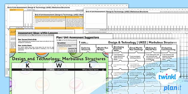 PlanIt - DT UKS2 - Marbulous Structures Unit Assessment Pack - planit, design and technology, dt, uks2, marbulous structures, assessment pack