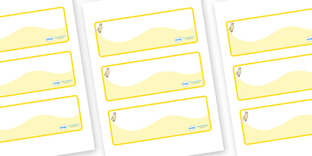 Duckling Themed Editable Drawer-Peg-Name Labels (Colourful) - Themed Classroom Label Templates, Resource Labels, Name Labels, Editable Labels, Drawer Labels, Coat Peg Labels, Peg Label, KS1 Labels, Foundation Labels, Foundation Stage Labels, Teaching