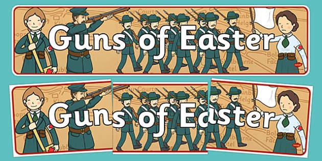 Guns of Easter Display Banner - guns of easter, display banner, display, banner