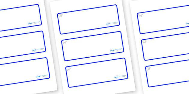 Polar Bear Themed Editable Drawer-Peg-Name Labels (Blank) - Themed Classroom Label Templates, Resource Labels, Name Labels, Editable Labels, Drawer Labels, Coat Peg Labels, Peg Label, KS1 Labels, Foundation Labels, Foundation Stage Labels, Teaching L