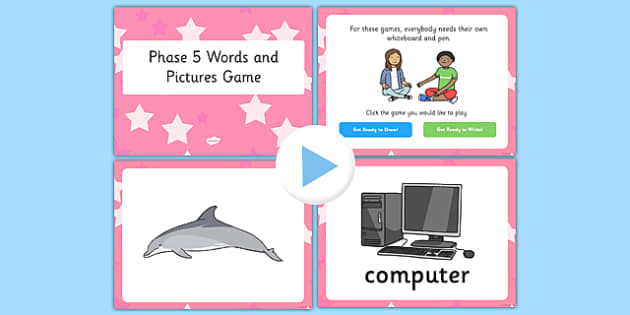 Phonics Words and Pictures Game Phase 5 - phonics, phase 5, game