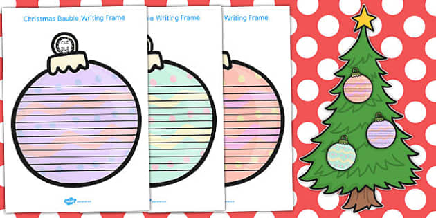 Christmas Bauble Writing Frames - australia, writing, bauble