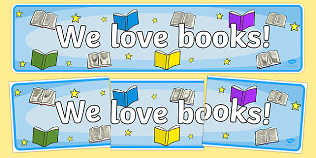 We Love Books Storytelling Week Display Banner - display, banner, display banner, we love books, books, reading, reading and writing, literacy, story telling week, story telling week banner, we love books banner, poster, sign, classroom display, them
