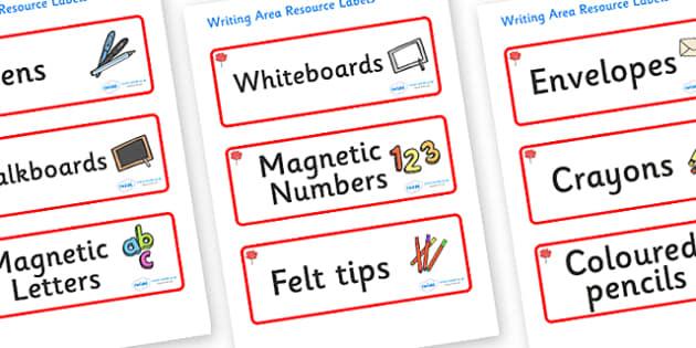 Maple Themed Editable Writing Area Resource Labels - Themed writing resource labels, literacy area labels, writing area resources, Label template, Resource Label, Name Labels, Editable Labels, Drawer Labels, KS1 Labels, Foundation Labels, Foundation