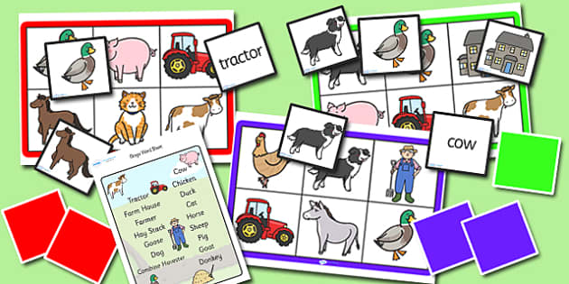 Farm Bingo and Lotto Pack - farm, bingo, lotto, bingo and lotto pack, farm bingo, farm lotto, games, activites, bingo and lotto, pack, farm pack, game pack