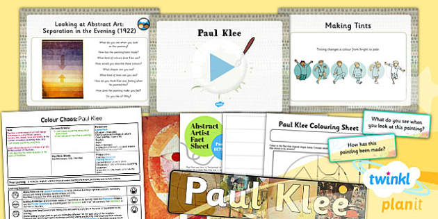 PlanIt - Art KS1 - Colour Chaos Lesson 3: Klee Lesson Pack