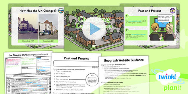 PlanIt - Geography Year 6 - Our Changing World Lesson 5: Changing Landscapes Lesson Pack - geography, physical, human, changes