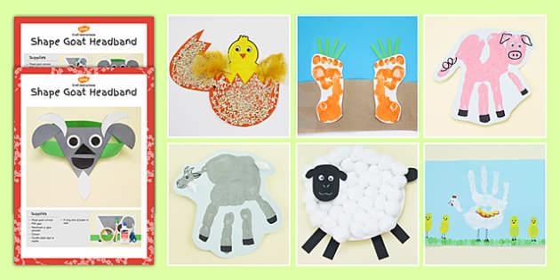 Farm Themed Craft Activity Pack - farm, themed, craft, activity
