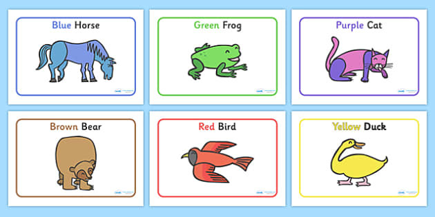Story Sequencing to Support Teaching on Brown Bear, Brown Bear - Brown Bear, Brown Bear, Bill Martin,  red bird, yellow duck, blue horse, green frog, purple cat, colours, animals, animal names, story, story book, story book resources, story sequencin