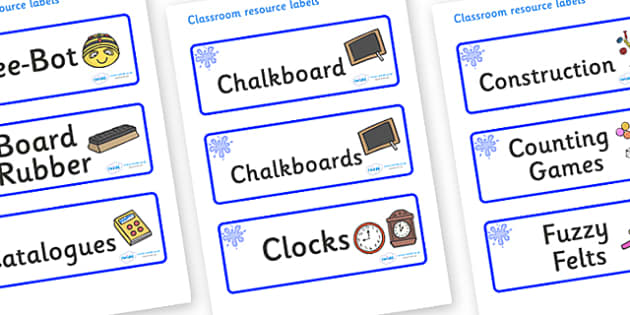 Blue Themed Editable Additional Classroom Resource Labels - Themed Label template, Resource Label, Name Labels, Editable Labels, Drawer Labels, KS1 Labels, Foundation Labels, Foundation Stage Labels, Teaching Labels, Resource Labels, Tray Labels, Pri