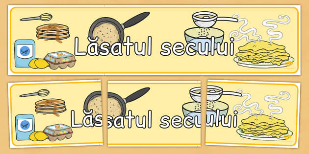 Lasatul secului, Banner - post, paste