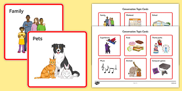 KS3 Conversation Topic Cards - SEN, support, behaviour, relationships, secondary, activity, PSHE, talking, sharing, listening, speaking